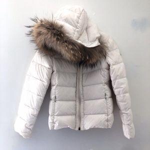 Moncler Girls Puffer Down Coat Jacket Ivory